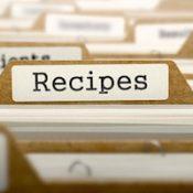 Recipes concept. word on folder register of card index. selective focus.