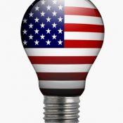 American flag lightbulb