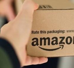 Woman receiving parcel