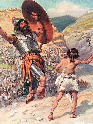David and Goliath, by James Tissot. Copyrighted 1904.