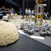 """NASA Asteroid Grand Challenge Anniversary Event"" by NASA/Aubrey Gemignani. Public domain."