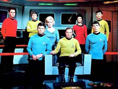 Star Trek crew, original series, season 3.