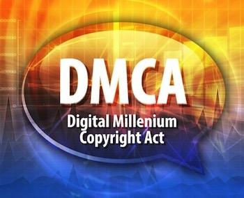 Speech bubble illustration of information technology acronym abbreviation term definition dmca digital millennium copyright act