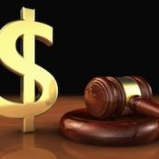 Gavel with dollar sign