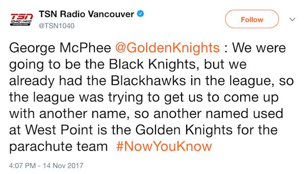 TSN Vancouver Tweet