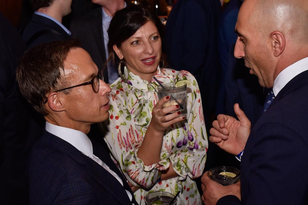 L-R: Michael Gulliford, Fanny & Matteo Sabattini
