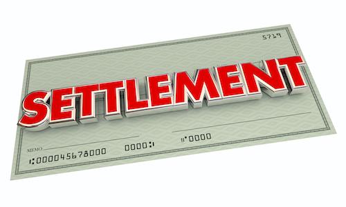 Settlement Agreement Check Word 3d Illustration