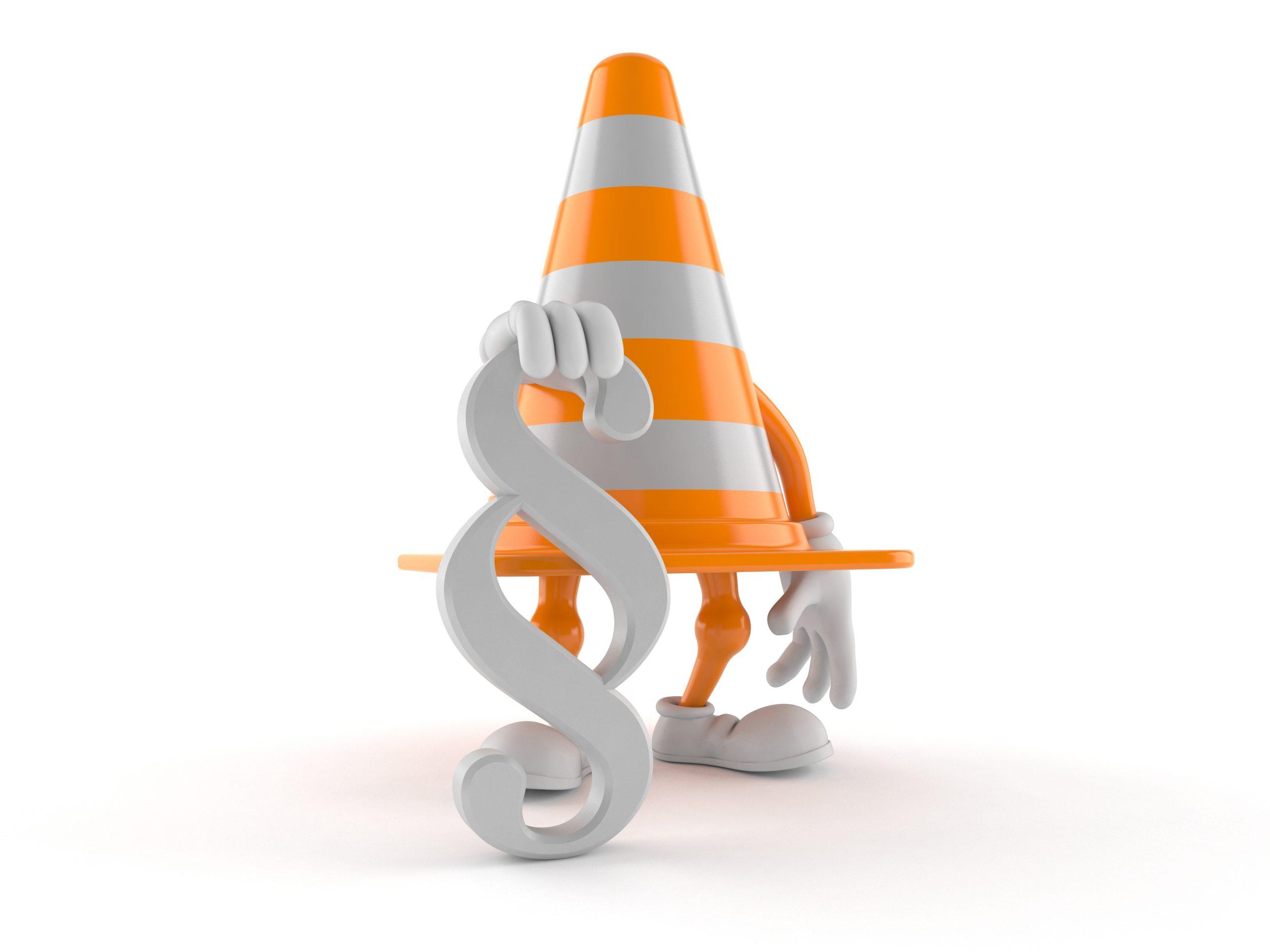 https://depositphotos.com/357659784/stock-photo-traffic-cone-character-paragraph-symbol.html